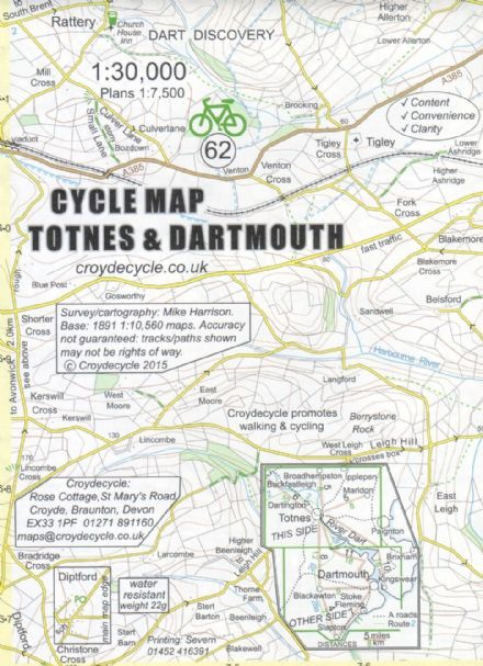 Totnes & Dartmouth Cycling Map